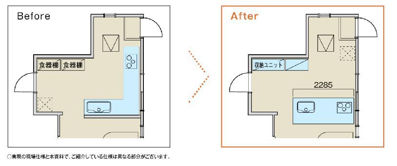 キッチン配置図