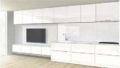 キッチンと部屋のデザイン1