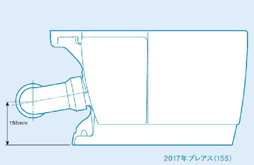 トイレ横から見た図