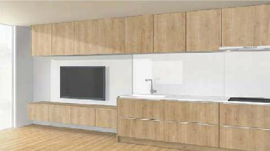 キッチンと部屋のデザイン2