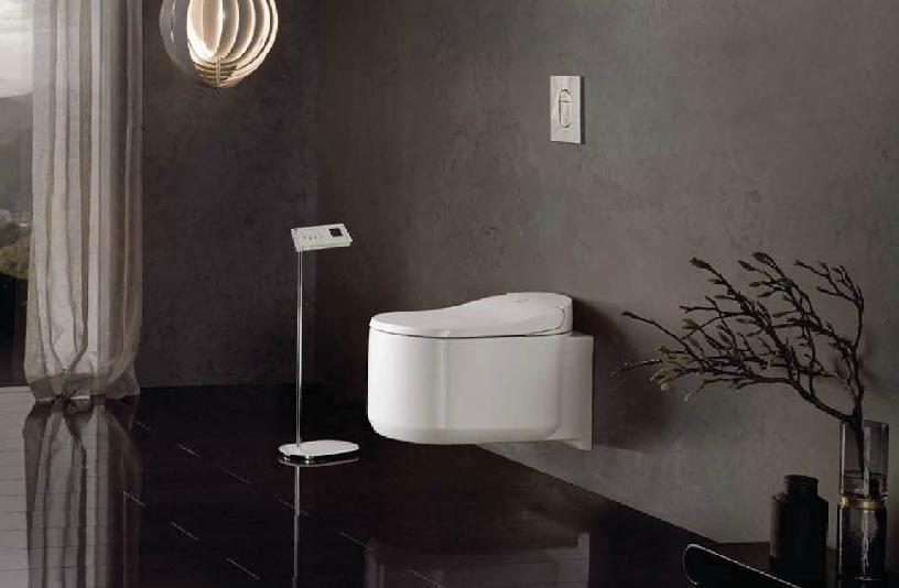 トイレのモノクロ画像