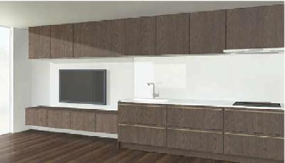 キッチンと部屋のデザイン4