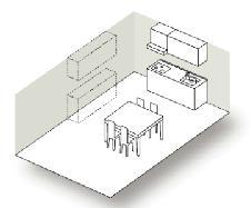 壁付け型キッチン図