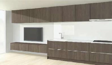 キッチンと部屋のデザイン6