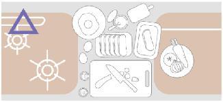 調理スペースの図