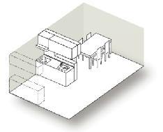 造作壁対面キッチン図