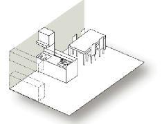 オープン対面キッチン図