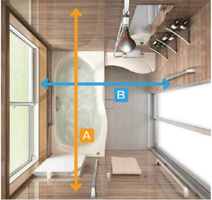 浴室サイズ測り方の図1
