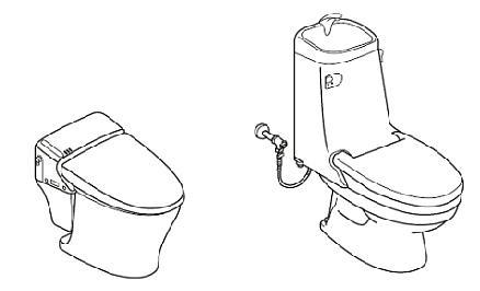シャワートイレ一体型便器