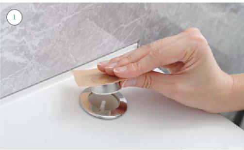 プッシュワンウェイ排水栓の押しボタンの掃除のやり方1