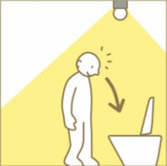 トイレ照明 直接