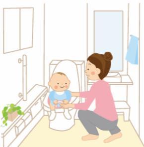 トイレトレーニングの様子の絵