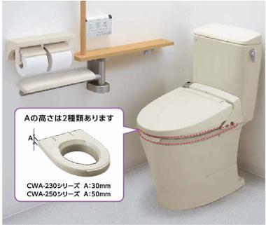 シャワートイレ付 補高便座