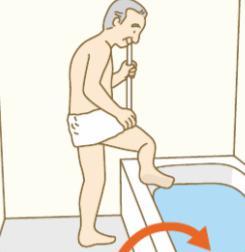 浴槽の中に入る