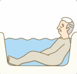 浴槽でゆったりとくつろぐ