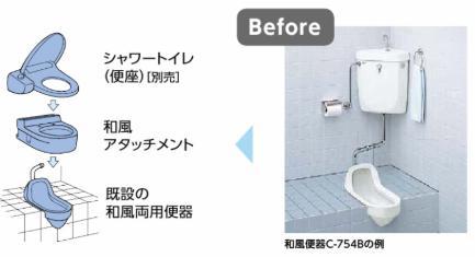 トイレを和風から洋風に変更