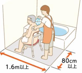 お風呂で介助する様子6